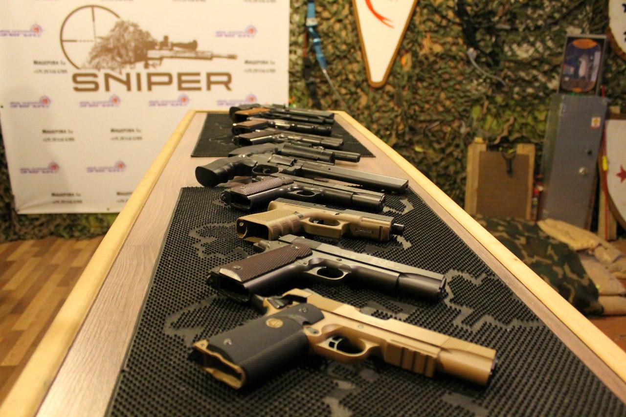 Различные виды пистолетов